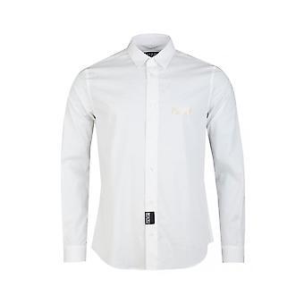 ヴェルサーチ ジーンズ クチュール コットン ホワイト シャツ
