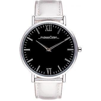 Guarda Andreas Osten AO-190 - Silver Leather Watch Bo Tier Silver Silver Silver