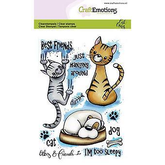 Craftemotions Tydliga frimärken A6 - Odey & Vänner 2 Av Carla Creaties