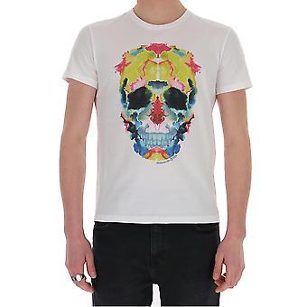 Alexander Mcqueen 611384qozb60900 Men's White Cotton T-shirt