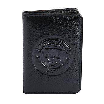 Manchester City FC Official Football Gift Embossed Crest Leather Travel Wallet