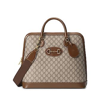 Gucci 62164092thg8969 Men's Beige Fabric Travel Bag