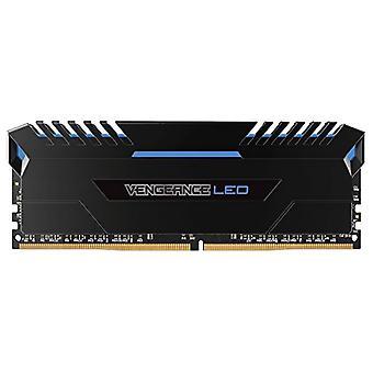 Corsair Vengeance LED Memory Kit Beleuchtet LED Enthusiastic 32 GB (2x16 GB), DDR4 3000 MHz, C16 XMP 2.0, Schwarz mit blauer LED-Beleuchtung