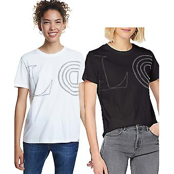 Desigual Women's Paris Tshirt LOVE Yourself Others The World Motto