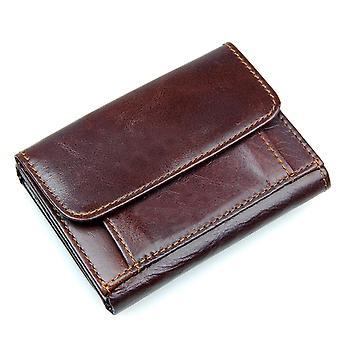 RFID peňaženka v pravej koži - Hnedá