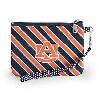 Auburn Tigers NCAA Striped Wristlet
