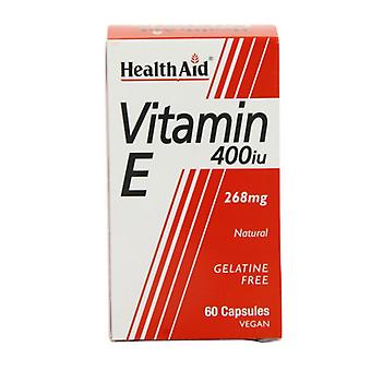 HealthAid Vitamin E 400iu Natural Vegicaps 60 (801245)