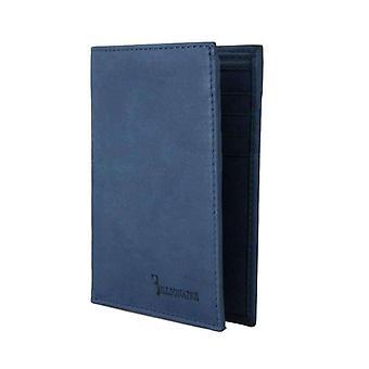Blue Leather Bifold Wallet -- VAS1128432