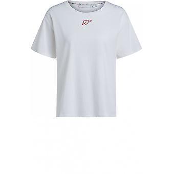 Oui White Relaxed Shape T-Shirt