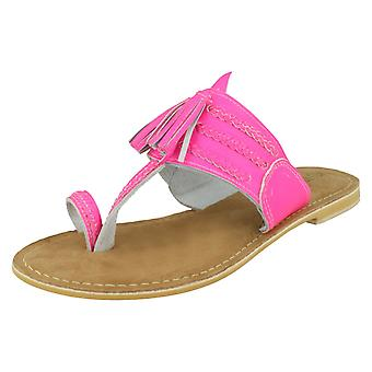 Ladies Leather Collection Toe Loop Sandals F00275