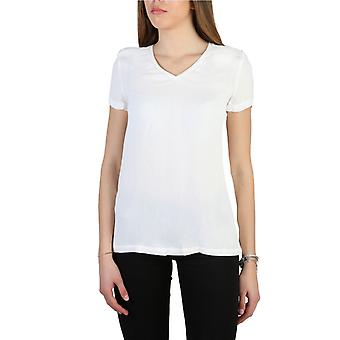Woman viscose short t-shirt round t-shirt top aj11127