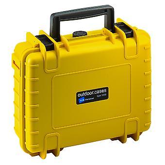 B&W Outdoor Case Typ 1000, Leer, Gelb