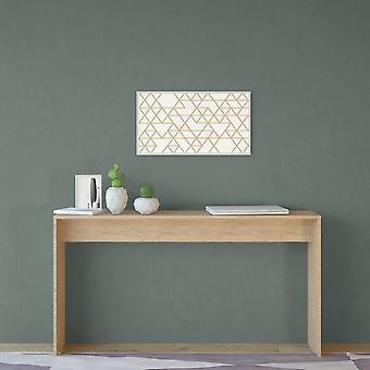 Stockholm Color Natural Wood console en Melaminic Chip 140x30x75 cm