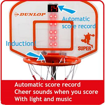 Dunlop Electronic Basketball Hoop Stand Automatically Score Light and Music