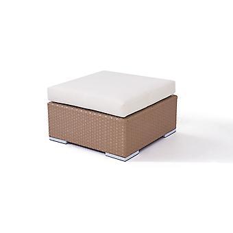 Polyrattan Cube stolička 75 cm - karamel