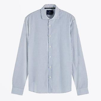 Skotsk og sodavand - Bomuldsstribeskjorte - Blå