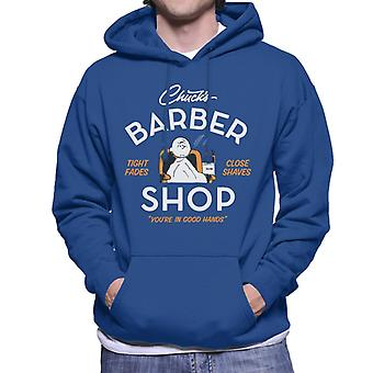 Orzeszki ziemne Charlie Brown Chucks Barber Shop Męska bluza z kapturem