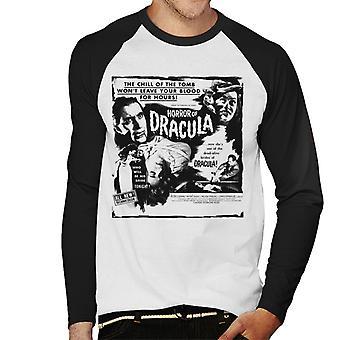 Hammer Horror Filme Dracula Chill des Grabes Zitat Männer's Baseball langärmelige T-Shirt