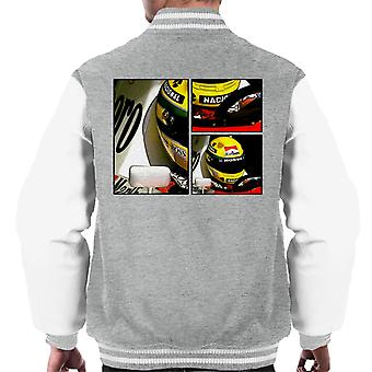 Motorsport Images Ayrton Senna McLaren Circuito Estoril Frame Art Men-apos;s Varsity Jacket