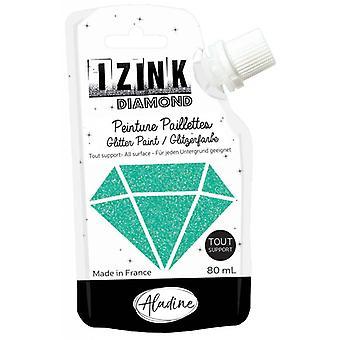 Aladine Izink Diamond Glitter Pintura Turquesa 80ml.