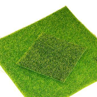 Diy Mini Fairy Garden Simulación de césped artificial musgo - turf hierba verde Micro paisaje decoración