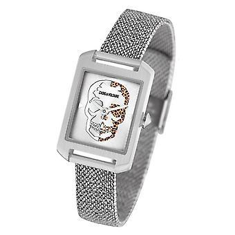 Zadig en Voltaire Watch ZVT315 - Bo tier Steel Silver Steel Bracelet Silver Dial Zilver