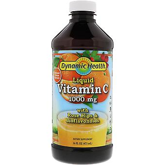 Dynamic Health  Laboratories, Liquid Vitamin C, Natural Citrus Flavors, 1,000 mg