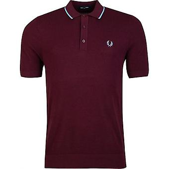 Fred Perry Made In Japan Tipped Knitted Short Sleeved Polo Shirt