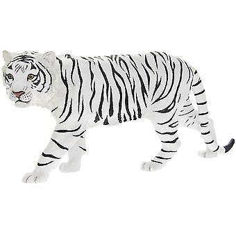 White Standing Snow Tiger Sculpture Resin Decorative Ornament