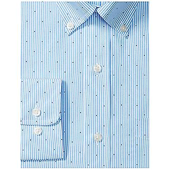 BUTTONED DOWN Miehet&s Classic Fit button-collar pattern non-iron dress shirt, l...