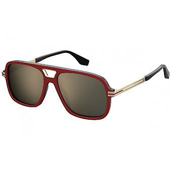 Sunglasses Men's Men's Rectangular Premium Gold/Red/Black