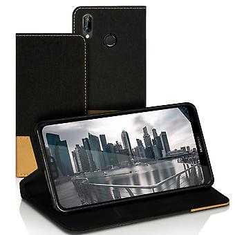Brieftasche Fall Fall Fall für Huawei P20 Lite Mobile Full Cover Mobile Cover Leatherette