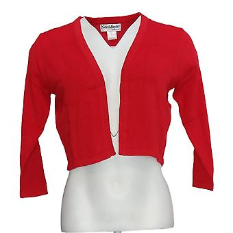 NorthStyle Women's Sweater Three Quarter Sleeve Shurg Poppy Red
