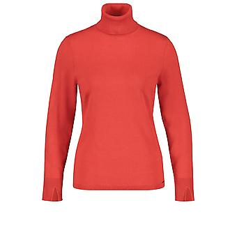 Taifun Red Polo Neck Jumper
