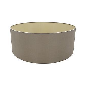 Cilindro redondo, 600 x 220mm doble falso tejido de seda, taupe, halo oro