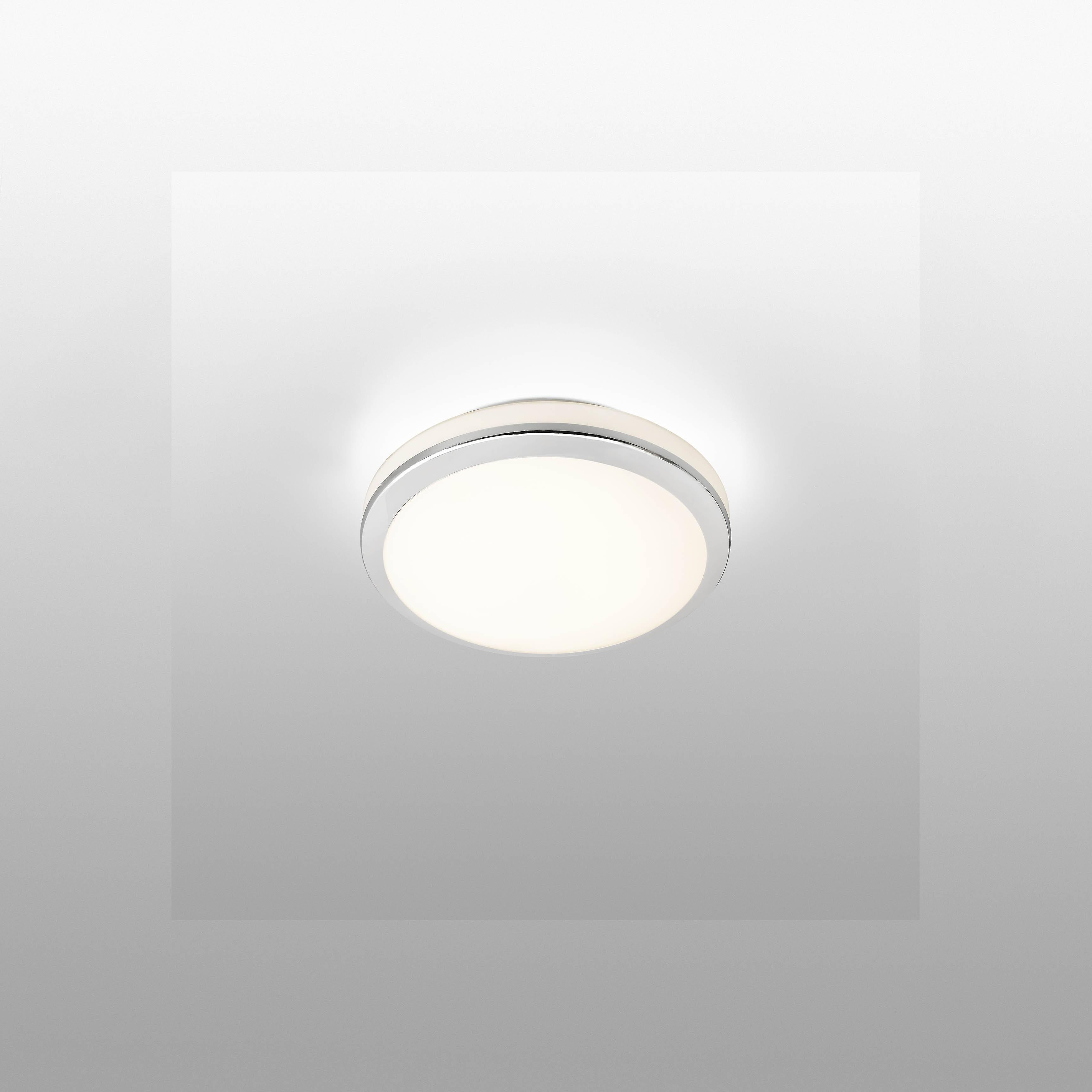 Faro Cloe - LED Bathroom Flush Ceiling Light Chrome, White IP44