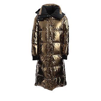 Yves Salomon 21wfm04020a11wb2200 Women's Gold Nylon Down Jacket
