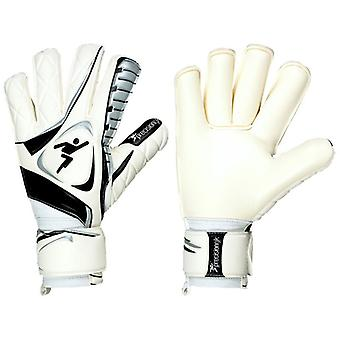 Brasileirao Contact Roll Finger GK Gloves - White/Black
