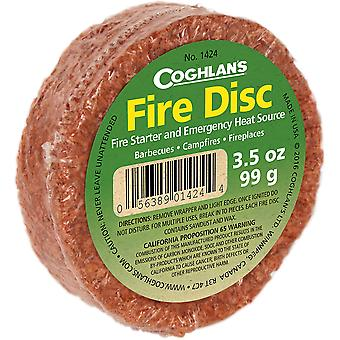 Coghlan's Fire Disc, Fire Starter and Emergency Heat Source, Campfire Fireplace