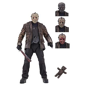 "NECA Freddy Vs Jason 7"" Scale Action Figure Ultimate Jason Voorhees"
