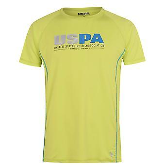 US Polo Assn Mens Contour Short Sleeve Crew Neck T-Shirt Lightweight Breathable
