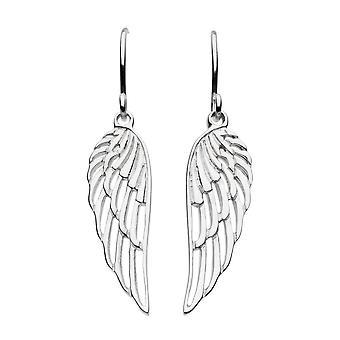 Dew Sterling Silver Angel Wing Drop Earrings 68112HP018