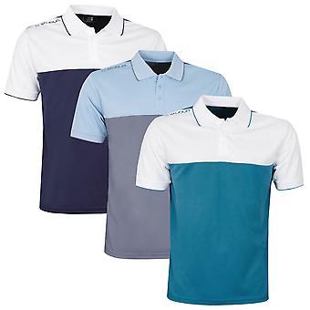 Stuburt Mens Evolve Duo Block Moisture Wicking Golf Polo Shirt