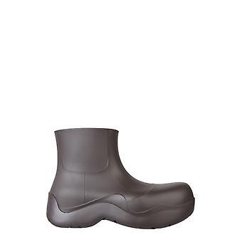 Bottega Veneta 640043v00p02113 Men's Brown Rubber Ankle Boots