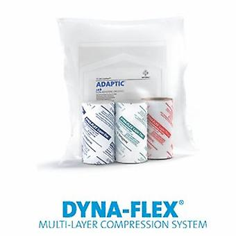 Systagenix Wound Management 3 Layer Compression Bandage System DYNA-FLEX Standard Compression Self-adherent / No Closure Tan / , Case of 8