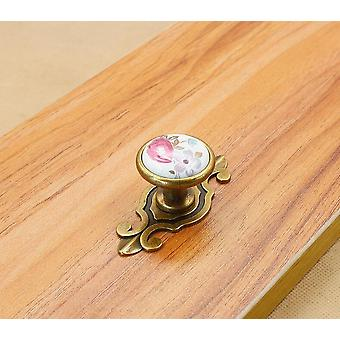Colorful Ceramic Round Cabinet Knobs- Door Pull Handles Cupboard Drawer / Wardrobe Furniture Handle Knobs