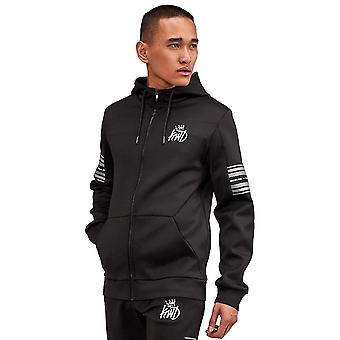 Kings Will Dream   Kwd Vez 5036 Reflect Poly Zip Through Hood Track Top - Black/silver