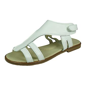 Angela Brown Izzy Girls Leather Sandals - White