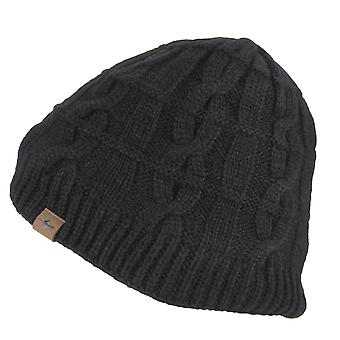 Sealskinz WP Cold Weather Cable Knit Beanie - Black