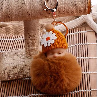 Mignon, Mini Dormir, Baby Doll - Pom Pom Furr Key Chains
